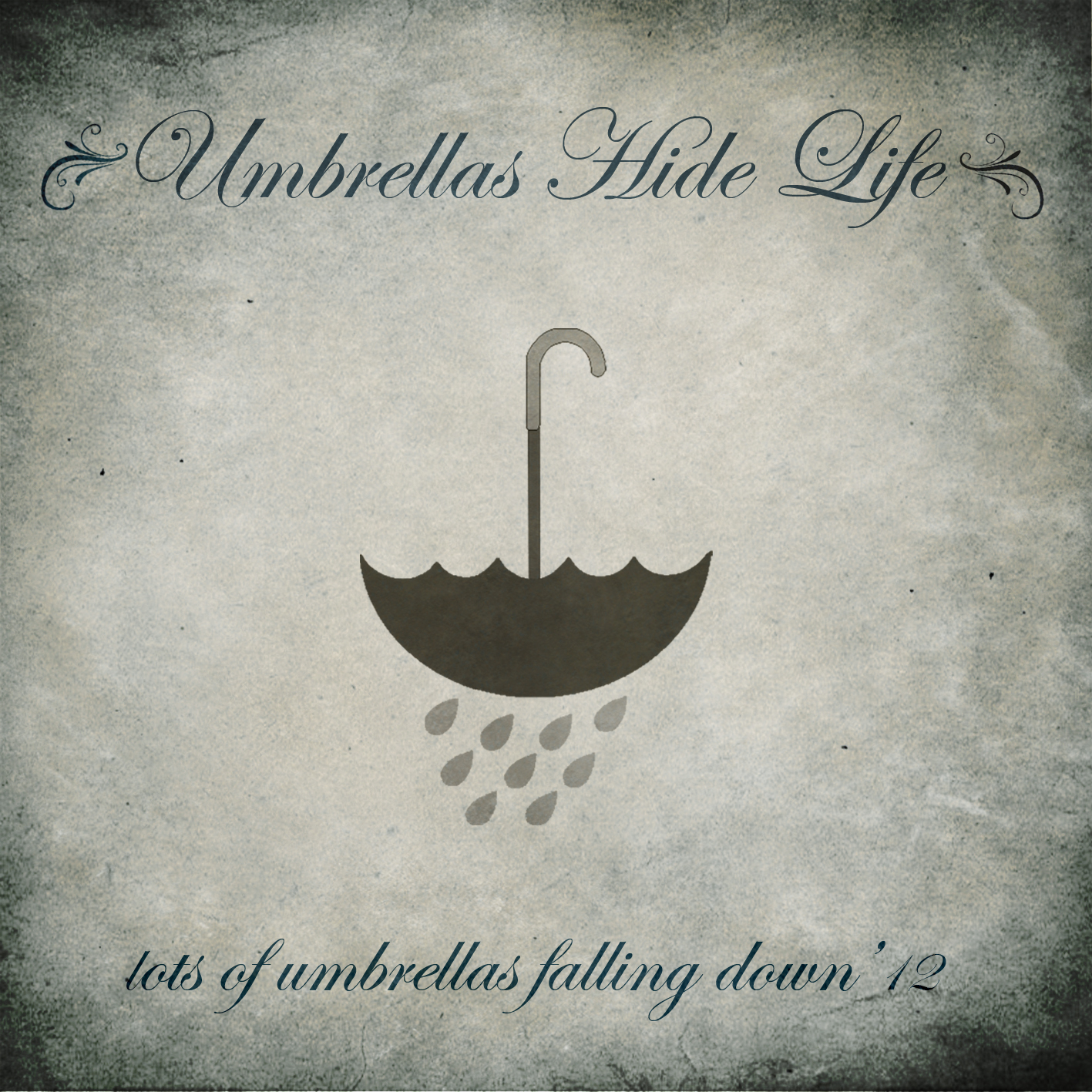 Umbrellas Hide Life--lots of umbrellas falling down